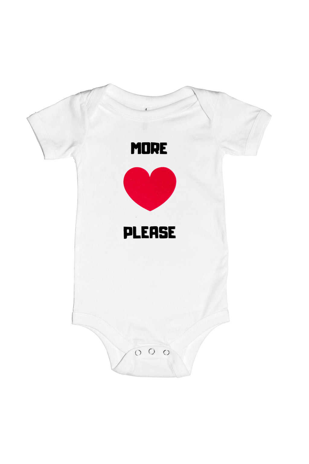 More Love Please Onesie
