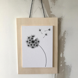 The Style Hunter Drawing on wood dandelion