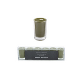 Home Society votive candles, kaarsjes groen green