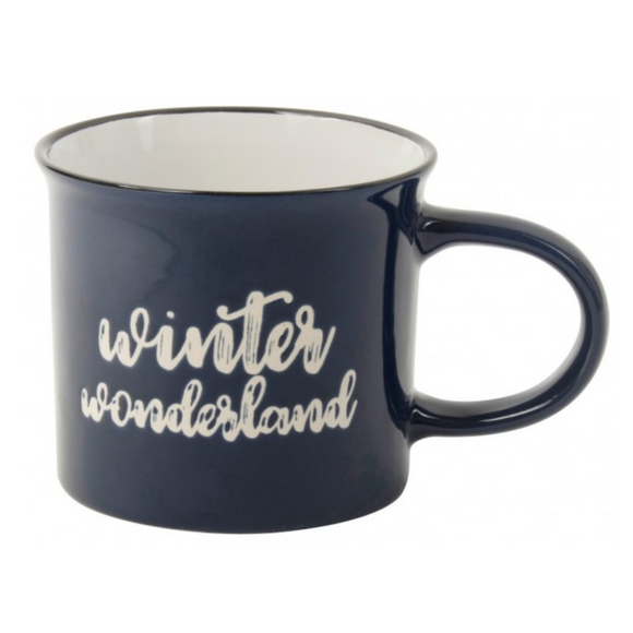 Mok blauw Winter Wonderland