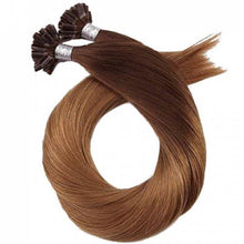 Load image into Gallery viewer, Light Brown #10 U-Tip (Nail Tip) Fusion Keratin Pre-Bonded 100% Remy Human Hair Extensions