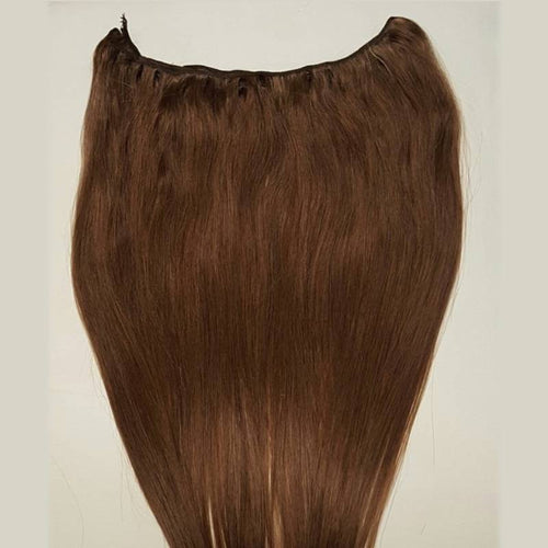 #4 Dark Brown machine weft hair