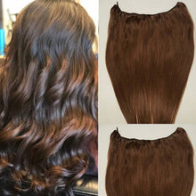 Load image into Gallery viewer, #4 Dark Brown machine weft hair
