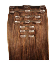 Load image into Gallery viewer, #6 Medium Chestnut Brown hair clips