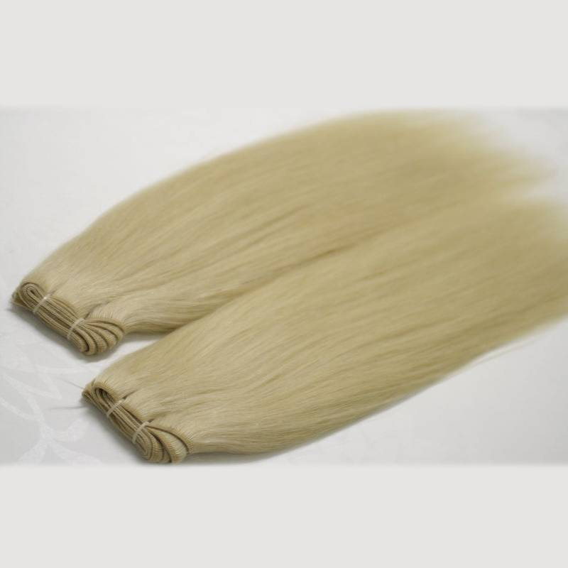 #60 White Blonde Tap Hand-Tied Weft Hair