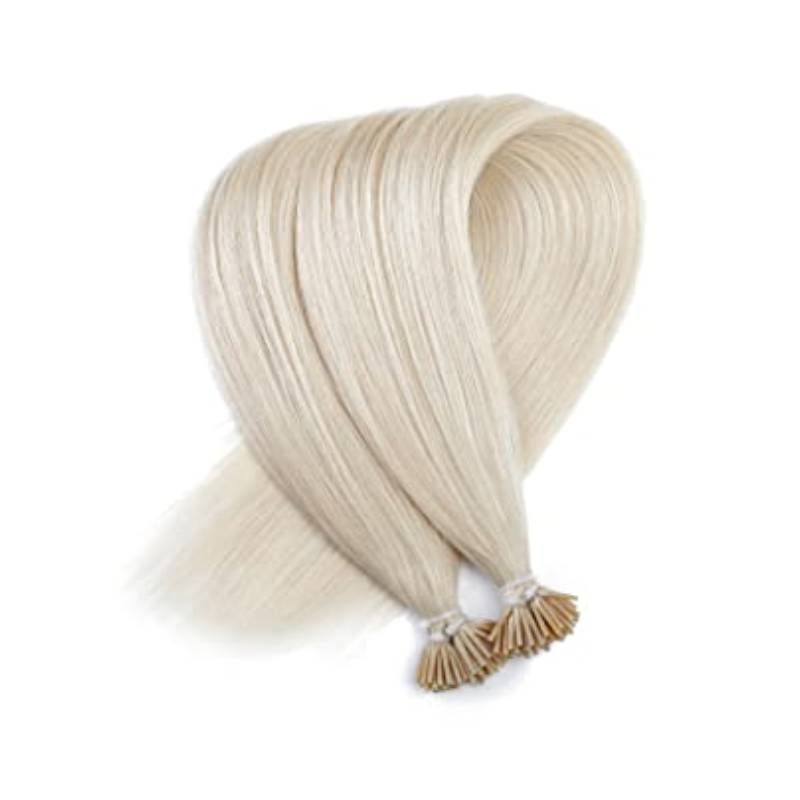 Light Ash Blonde I-Tip (Stick Tip) Beaded Fusion Pre-Bonded 100% Remy Human Hair Extensions
