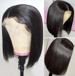 Bob Lace Front Wigs Straight Hair 150% - 180% Density Wigs Human Virgin Hair