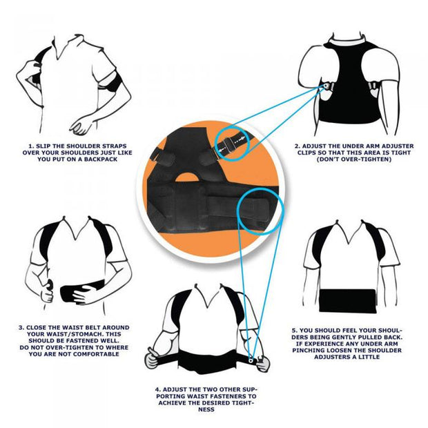 Adjustable Lumbar Support Posture Corrector - Beauty and Everything
