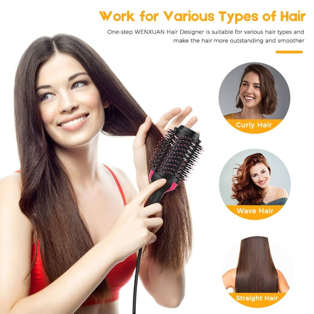 2 in 1 Hair Dryer and Volumizer Styling Brush - Beauty and Everything