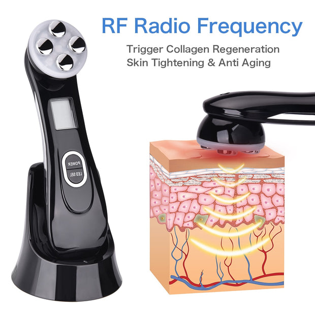 5 in 1 LED Skin Tightening Anti Aging  Device - Beauty and Everything