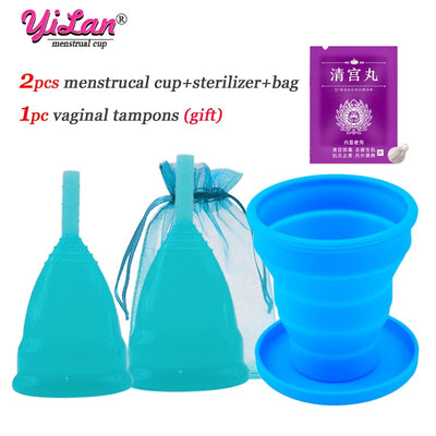 2 pcs Menstrual Cup for Women - Beauty and Everything