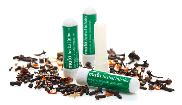 Set of 4 Natural Herbal Inhalers for Nasal Congestion