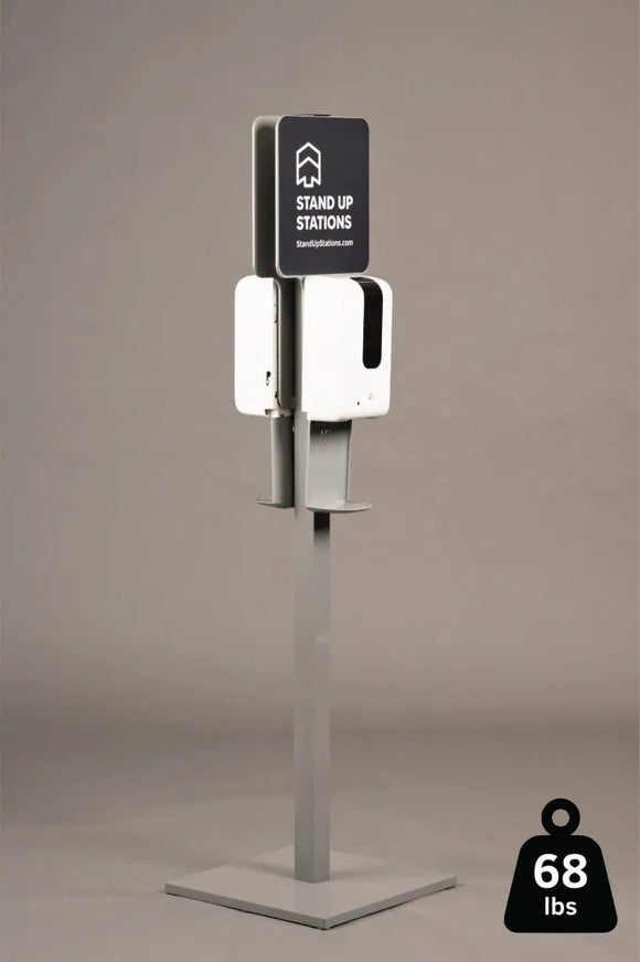 Double Sided – Premium Hand Sanitizer Station