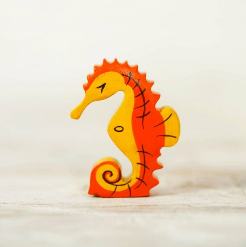 Small Wooden Seahorse