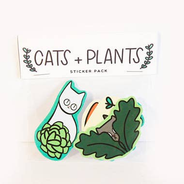 Cats + Plants Stickers