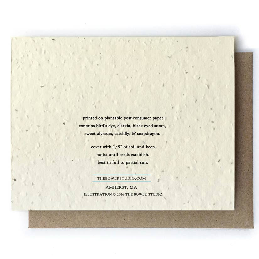 Thank You Botanical Greeting Cards - Plantable Seed Paper