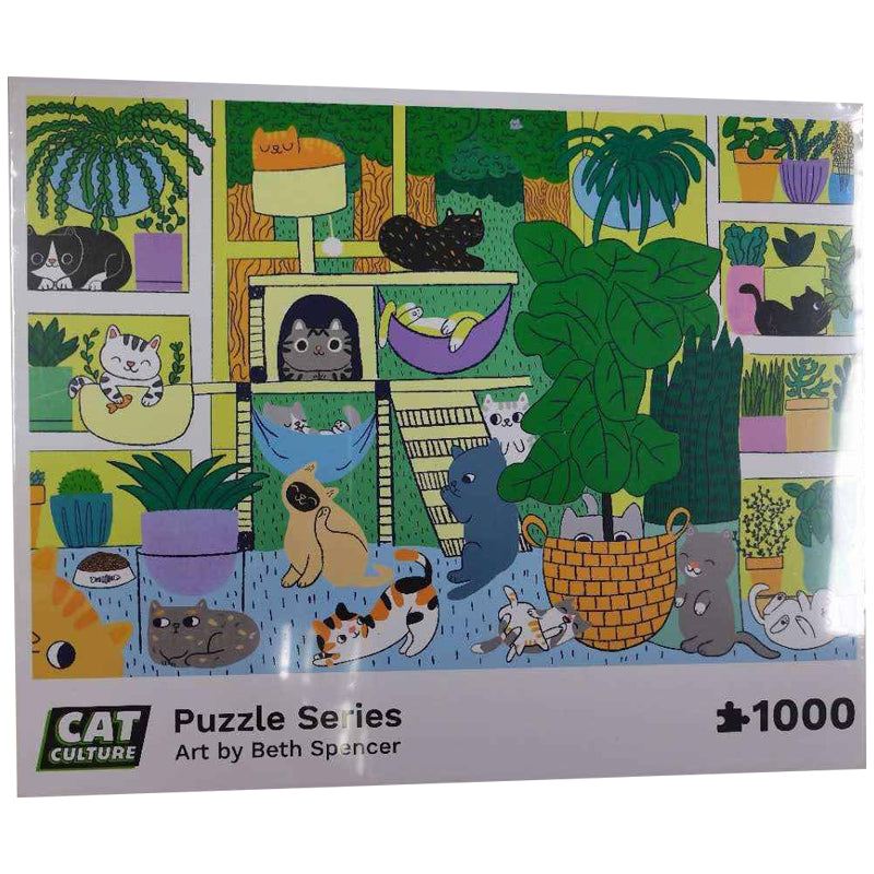 """Catropolis"" Exclusive Cat & Plant Puzzle by Cat Culture"