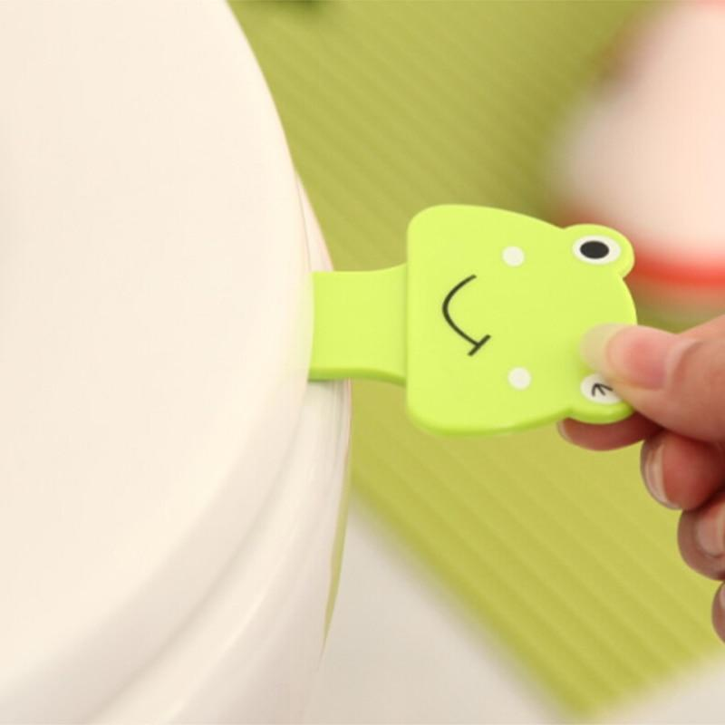 Lifter Avoid Touching Toilet Seat Handle Sticker Bathroom Lid