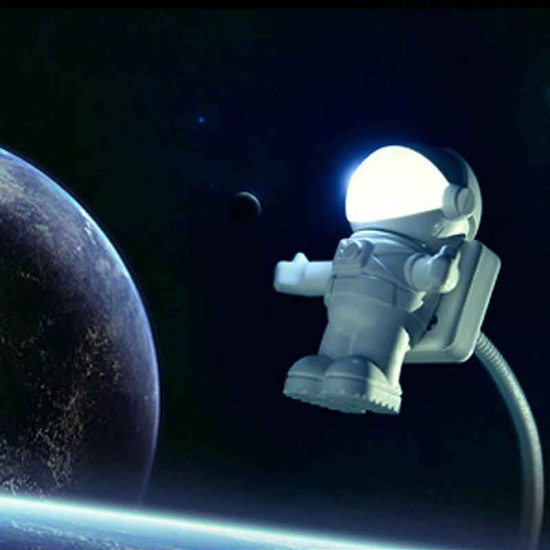 New Style Cool New Astronaut Spaceman USB LED Adjustable Night Light For Computer PC Lamp Desk Light
