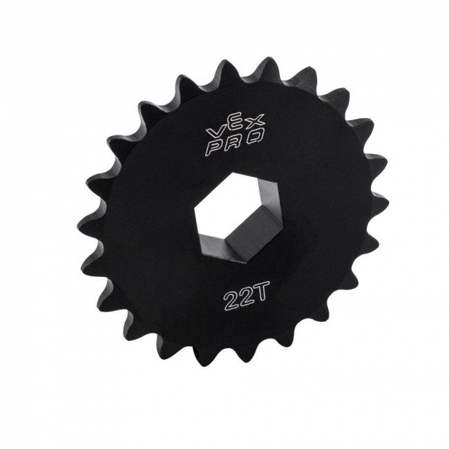 "217-2640: 22t Aluminum Hub Sprocket (#25 Chain, 1/2"" Hex Bore)"