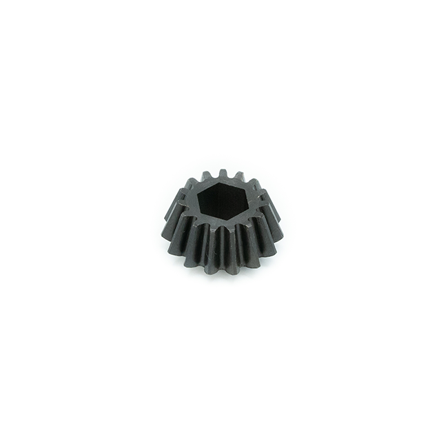 "15t Steel Bevel Gear (1.5 Module, 3/8"" Hex Bore)"