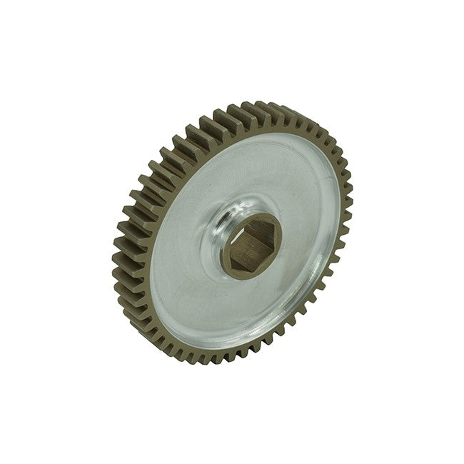 "WCP-0119: 50t Pocketed Aluminum Spur Gear (20 DP, 1/2"" Hex Bore)"