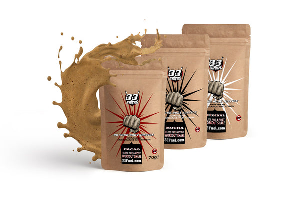 33fuel strongman to cycling nutritionist - elite pre and post workout shakes