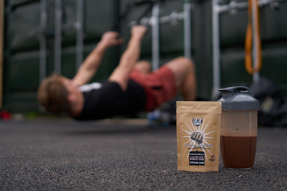 33fuel the power of crying - elite pre and post workout shakes