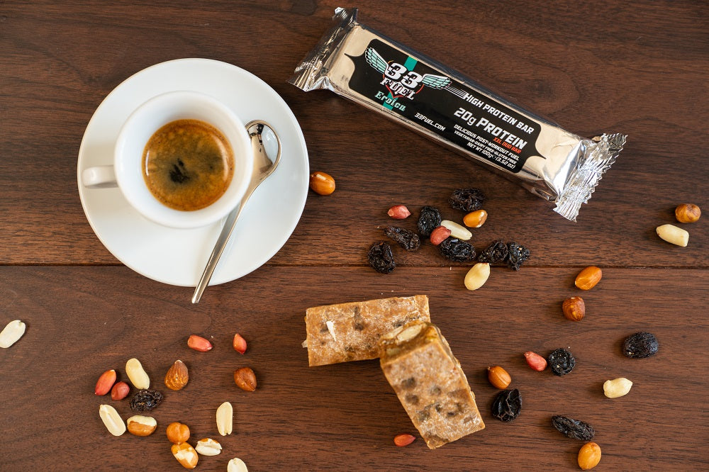 33fuel how to schedule weights into a training plan - 33fuel eroica protein bar