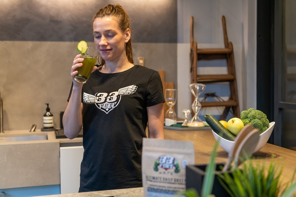 33fuel charlie reading podcast - ultimate daily greens