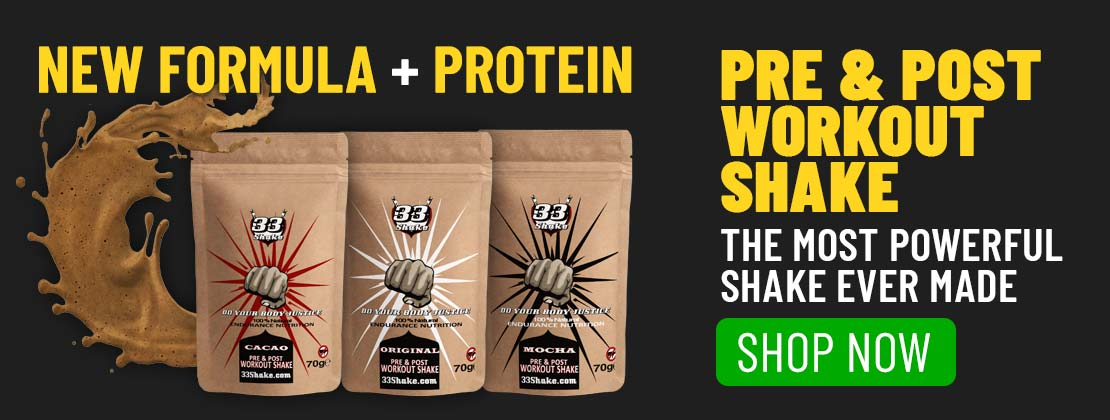 33fuel running during lockdown - elite pre and post workout shake