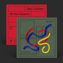 Load image into Gallery viewer, Sky Civilian At the Seams vinyl mockup
