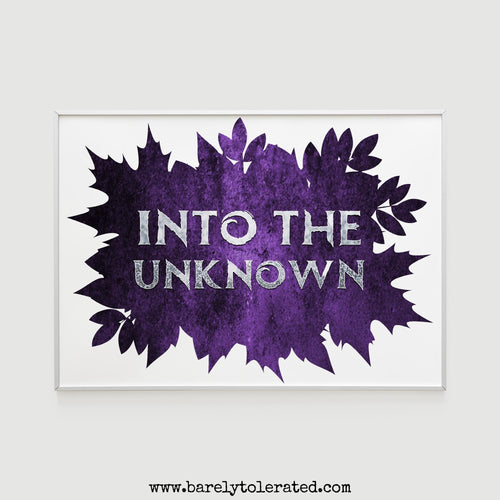 Into the Unknown Print Image