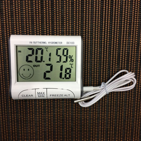 Digital LCD Thermometer Hygrometer Sensor Temperature Humidity Meter Gauge Clock