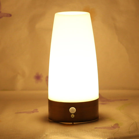 Wireless Battery Powered Motion Sensor LED Night Night Bedside Living Room Lamp