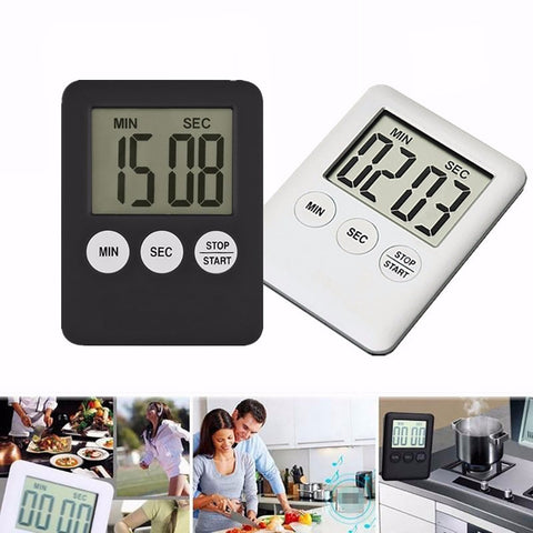 Magnetic Square LCD Digital Timer Kitchen Cooking Countdown Alarm Clock Tools