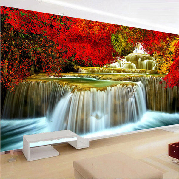 80x30cm Large Resin Diamond Painting Waterfall Scenery Wall Living Room Decor