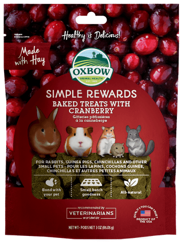 OXBOW Baked Treats with Cranberry