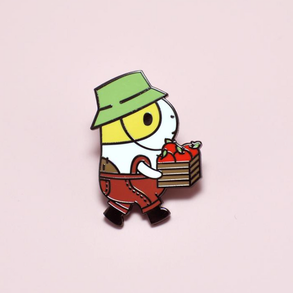 NORISTUDIO Bubu the Guinea Pig Apple Picking Enamel Pin