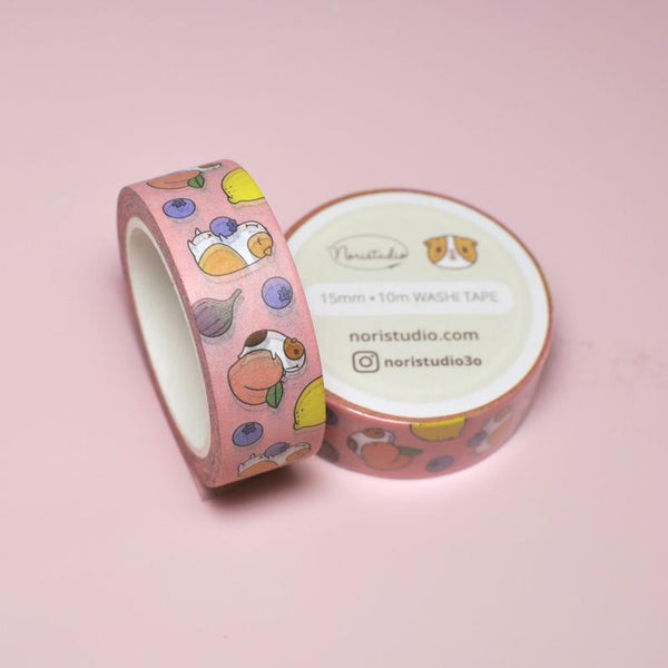 NORISTUDIO Guinea pig and Fruits Washi Tape