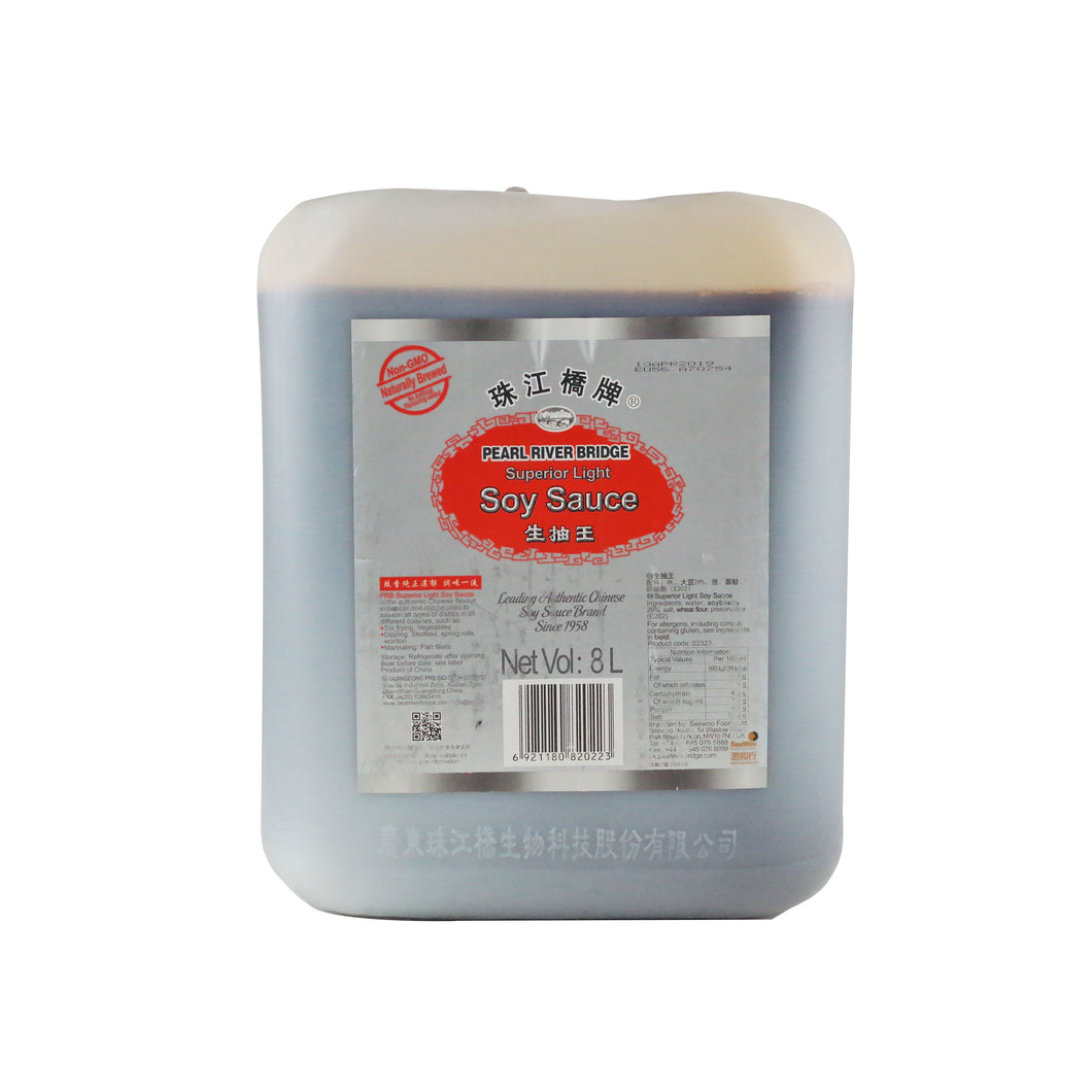 PRB Superior Light Soy Sauce 8ltr/pack