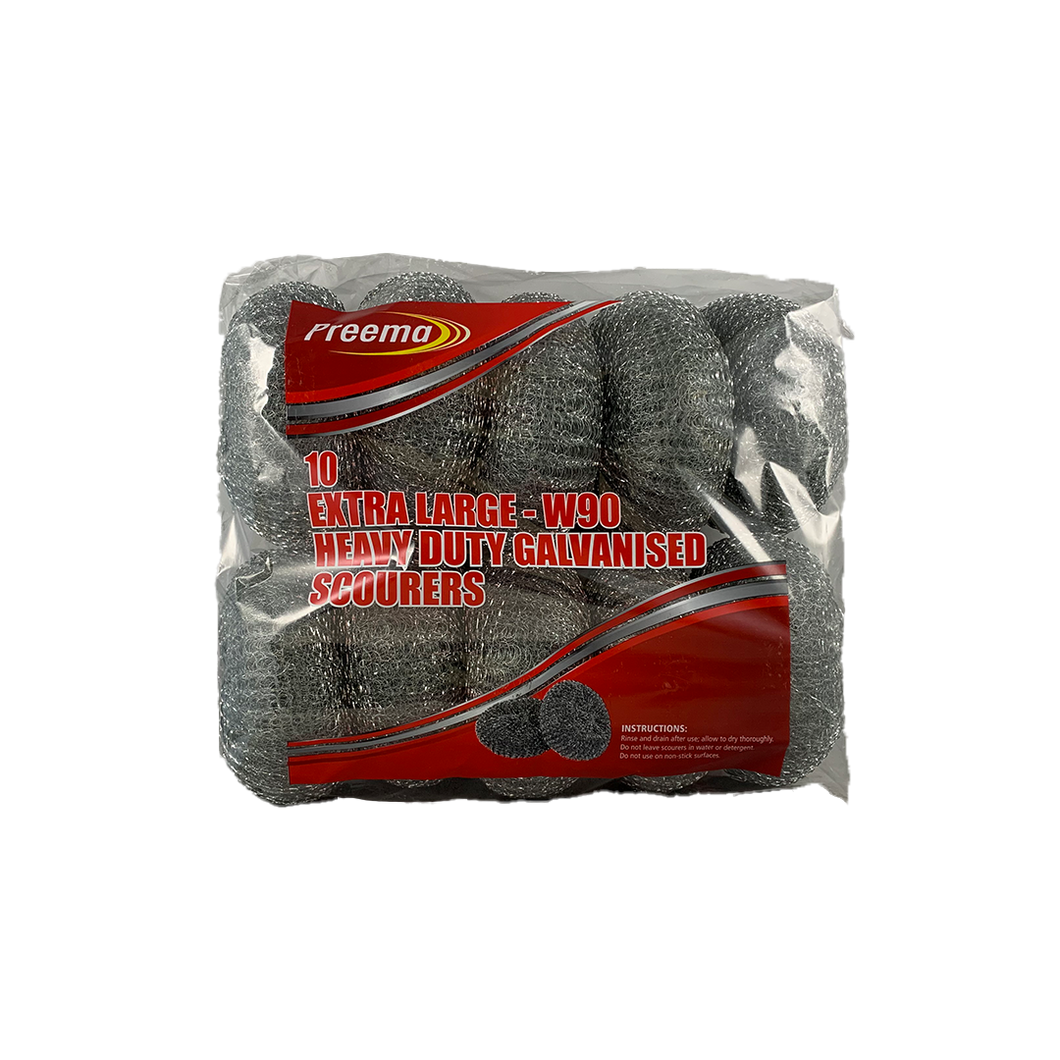 Preema Galvanised Scourers W90 10pc/pack(VAT)