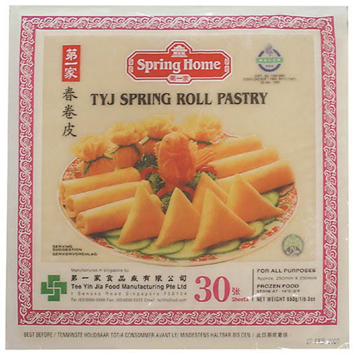 Frozen TYJ Spring Roll Pastry 10