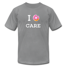 Load image into Gallery viewer, I Donut Care Unisex Jersey T-Shirt - slate
