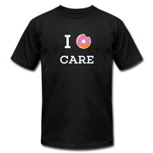 Load image into Gallery viewer, I Donut Care Unisex Jersey T-Shirt - black