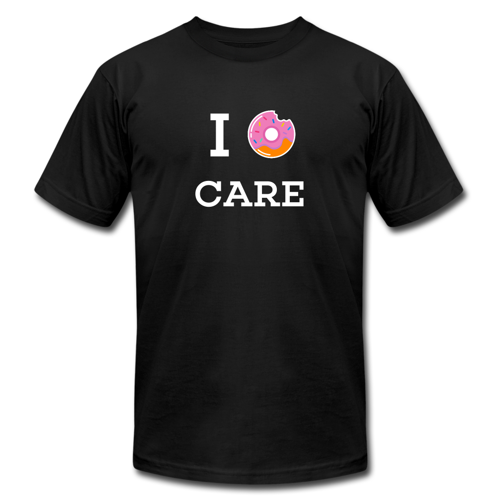 I Donut Care Unisex Jersey T-Shirt - black