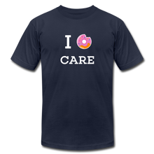 Load image into Gallery viewer, I Donut Care Unisex Jersey T-Shirt - navy