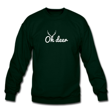 Load image into Gallery viewer, Oh Deer Crewneck Sweatshirt - forest green