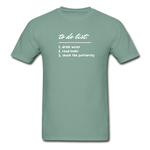 Load image into Gallery viewer, To do list Unisex ComfortWash Garment Dyed T-Shirt - seafoam green