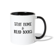 Load image into Gallery viewer, Stay Home & Read Books Contrast Coffee Mug - white/black